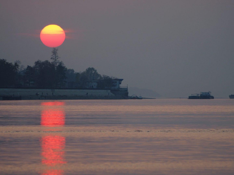 Залез над р.Дунав в гр.Лом