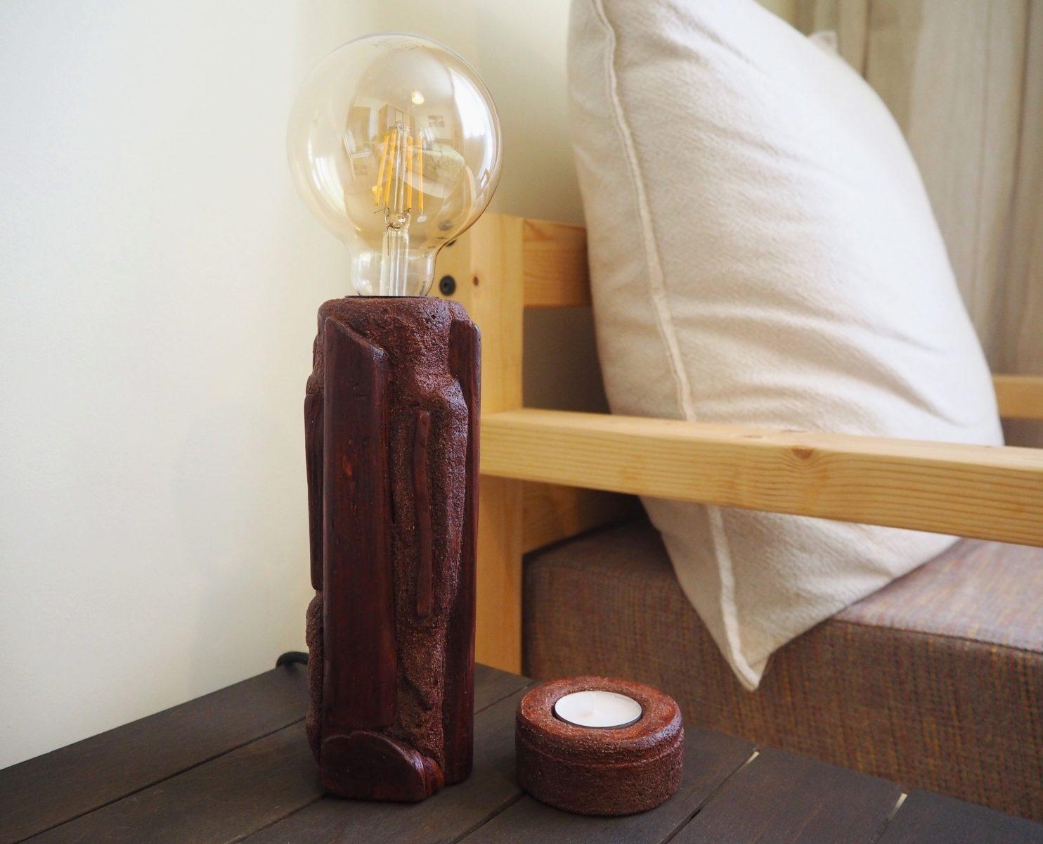 Лампа и свещник, ръчна изработка