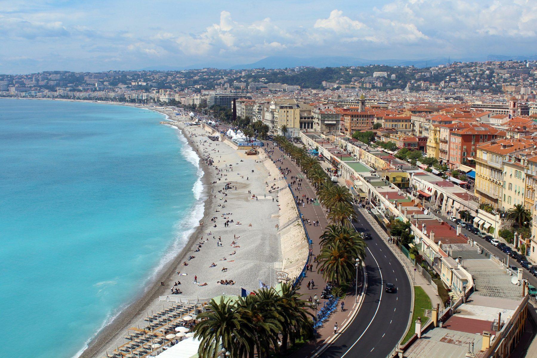 Лазурният бряг, крайбрежението на Ница