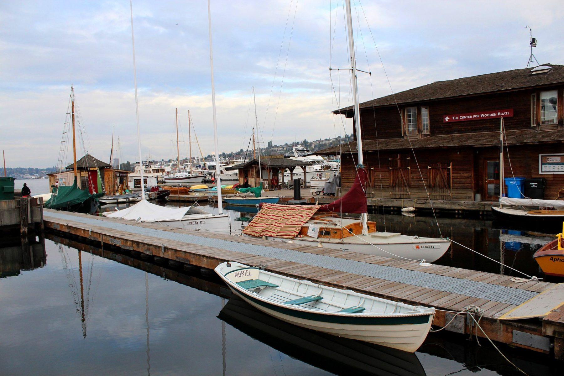"""Сиатъл, лодки в езерото """"Юниън"""""""